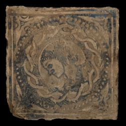 French floor tile with incised decoration