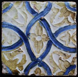 Luster Glaze arista tile from Seville