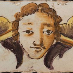 Barroque tile with face