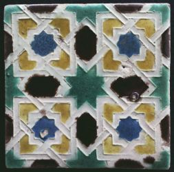 Spanish arista tile with eightpointed star