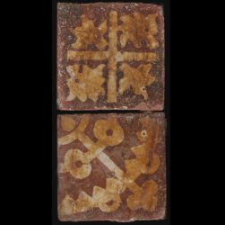 Tiles from Vauluisant monastery